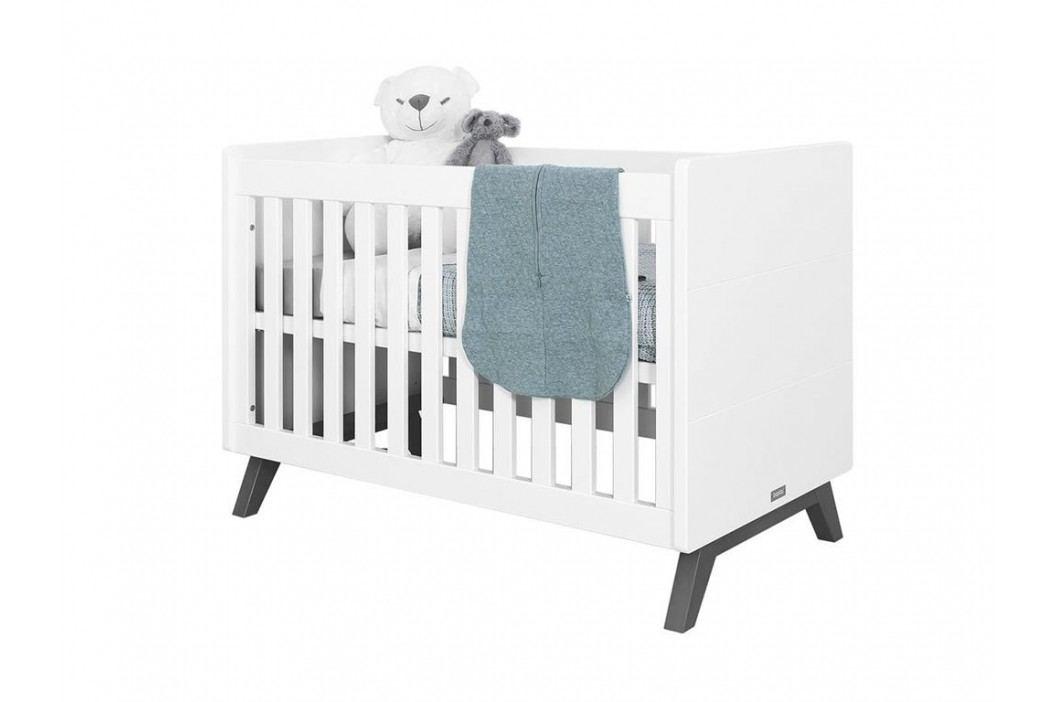 BOPITA Levi Babybett Weiß/Grey Wash 60x120cm Lattenrost höhenverstellbar 11408173 Babybetten