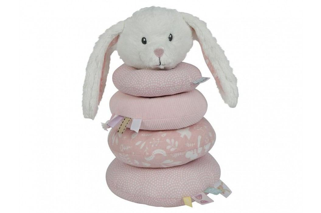 LITTLE DUTCH Adventure Ringturm Hase Pink 4649 Babyspielzeug