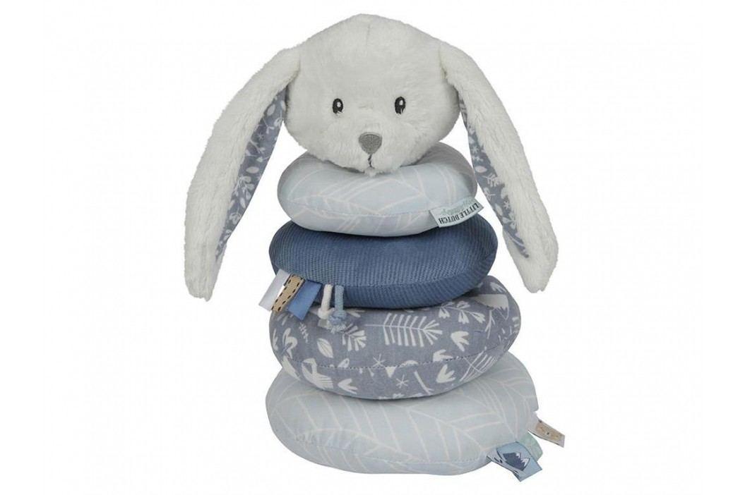 LITTLE DUTCH Adventure Ringturm Hase Blue 4648 Babyspielzeug