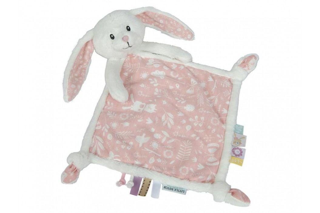 LITTLE DUTCH Adventure Kuscheltuch Hase Pink 4628 Spielzeug