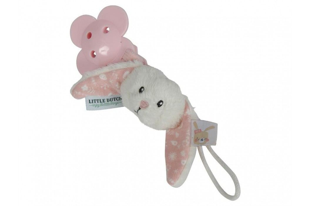 LITTLE DUTCH Adventure Schnullerkette Hase Pink 4610 Babyspielzeug