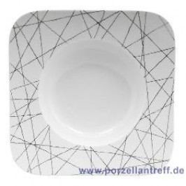 Rosenthal Studio-line Free Spirit Stars Soup Plate Quad. 23 cm