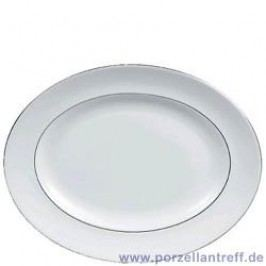 Wedgwood Vera Wang Blanc sur Blanc Oval Platter 35 cm
