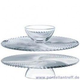 Nachtmann Glasses Samba Pie Platter / Chip & Dip 32 cm