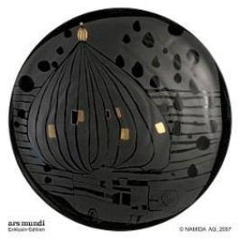 Königlich Tettau Hundertwasser Dinner Service Charger Plate / Underplate Black