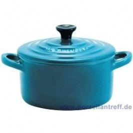 Le Creuset Poterie Mini s Mini Cocotte 9 x 5 cm, carribean blue