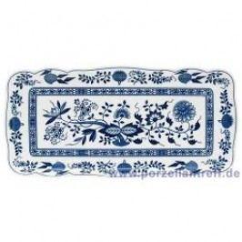 Hutschenreuther Blue Onion Pattern Pie Platter Rectangular 33 x 15.5 cm