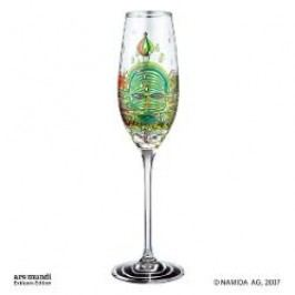 Königlich Tettau Hundertwasser Champagne Glasses Champagne Glass 'Green Power' Height 24 cm, Capacity 0.15 l