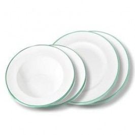 Gmundner Keramik Grüner Rand Tableware set 'Dinner for two' Gourmet
