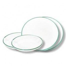 Gmundner Keramik Grüner Rand Tableware set 'Dinner for two'