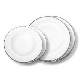 Gmundner Keramik Grauer Rand Tableware set 'Breakfast for two' Gourmet