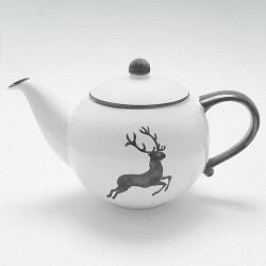 Gmundner Ceramics Grey Deer Tea Pot Smooth 1.5 L