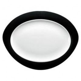 Seltmann Weiden Trio Black Oval Platter 35 cm