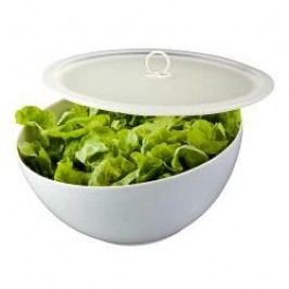 Arzberg Kitchen Friends White Bowl with Lid Transparent in a Gift Box 28 cm