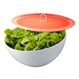 Arzberg Kitchen Friends White Bowl with Lid Red in a Gift Box 21 cm