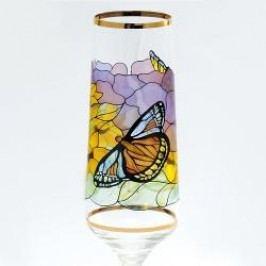 Königlich Tettau Tiffany Sparkling wine Goblets Champagne Goblet in Gift Box Sunflower