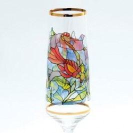 Königlich Tettau Tiffany Sparkling wine Goblets Champagne Goblet in Gift Box Fishes