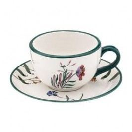 Magu-Cera Ceramics Flower Magic Tea Cup with Saucer 2 pcs