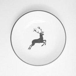 Gmundner Ceramics Grey Deer Soup Plate Cup 20 cm
