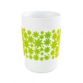 Kahla Five Senses touch Frühlingsmotive Maxi-cup 'Flower Power', colour: green apple, 0.35 L