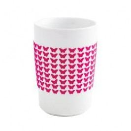 Kahla Five Senses touch Frühlingsmotive Maxi-cup 'Butterfly', colour: violet-red, 0.35 L