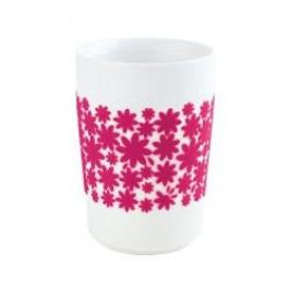 Kahla Five Senses touch Frühlingsmotive Maxi-cup 'Flower Power', colour: violet-red, 0.35 L
