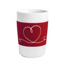 Kahla Five Senses touch Herzmotive Maxi-cup 'Herzband', colour: red, 0.35 L