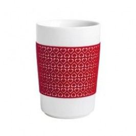Kahla Five Senses touch Herzmotive Maxi-cup '100 Hearts', colour: red, 0.35 L