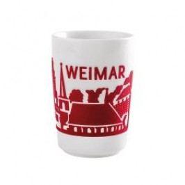 Kahla Five Senses touch Skyline Mug large 'Weimar' , colour: red, 0.35 L