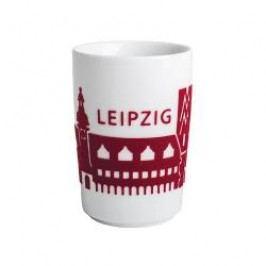 Kahla Five Senses touch Skyline Mug large 'Leipzig', colour: red, 0.35 L