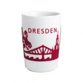 Kahla Five Senses touch Skyline Mug large 'Dresden' , colour: red, 0.35 L