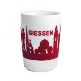 Kahla Five Senses touch Skyline Mug large 'Gießen', colour: red, 0.35 L
