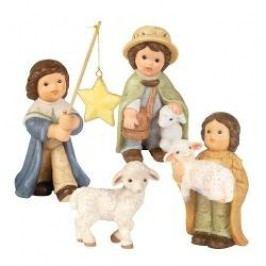 Goebel Nina & Marco Midi Nativity Carol Singer, Lamb, 2 Shepherds 4 pcs