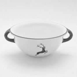 Gmundner Ceramics Grey Deer Bowl Weitling 25 cm