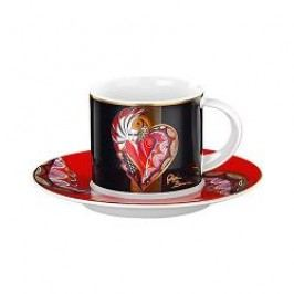 Königlich Tettau Artist-Collection Gigi Banini Mocha Cup 2 pcs