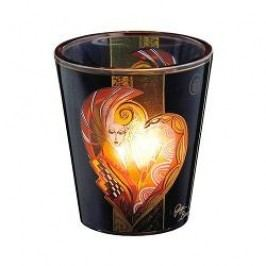 Königlich Tettau Artist-Collection Gigi Banini Glass tea light holder 'Queen of hearts'