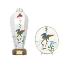Schirnding Pajaro Exotico Vase with Cover and Certificate + Wall Plate (Salvador Dali)