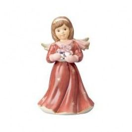 Goebel Bordeaux - Reverently Angel with Snowflake with music box Tune: