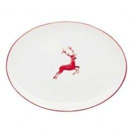 Gmundner Keramik Ruby Red Deer Platter oval 33x26 cm