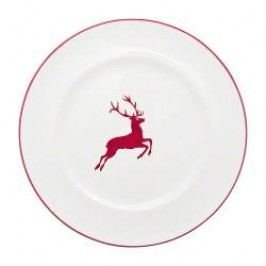 Gmundner Keramik Ruby Red Deer Dinner Plate gourmet 27 cm