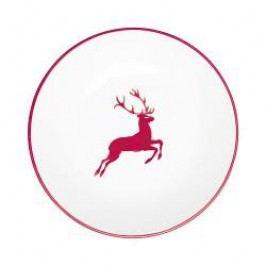 Gmundner Keramik Ruby Red Deer Soup Plate Cup classic 20 cm