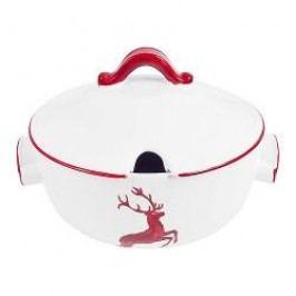Gmundner Keramik Ruby Red Deer Soup Pot 2,00 L