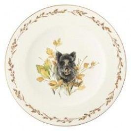 Königlich Tettau Achat Diamant - Jagd Dining plate 'Wildschwein', 28 cm