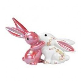 Goebel Bunny de luxe - Seasonal & Colour Bunnies 'Pink Retro' Bunny in Love figurine 17 cm