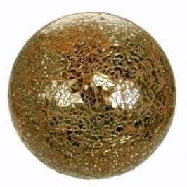Formano Lamps Illuminated Glass Deco Ball yellow-gold 35 cm