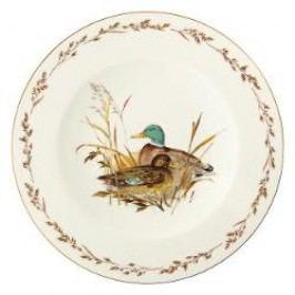 Königlich Tettau Achat Diamant - Jagd Dining plate 'Ente', 28 cm