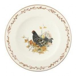 Königlich Tettau Achat Diamant - Jagd Breakfast plate 'Birkhuhn', 22.5 cm