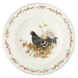 Königlich Tettau Achat Diamant - Jagd Dining plate 'Birkhuhn', 28 cm