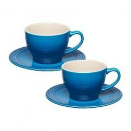 Le Creuset Pottery Breakfast Cappuccino Cup with Saucer Marseille Set of 2 / 0,2 L