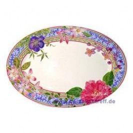 Gien Millefleurs Side Dish 23.3 x 16.2 cm
